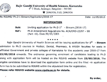 Dissertation submitted to the rajiv gandhi university of health sciences
